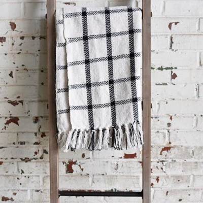 Black & White Plaid Throw