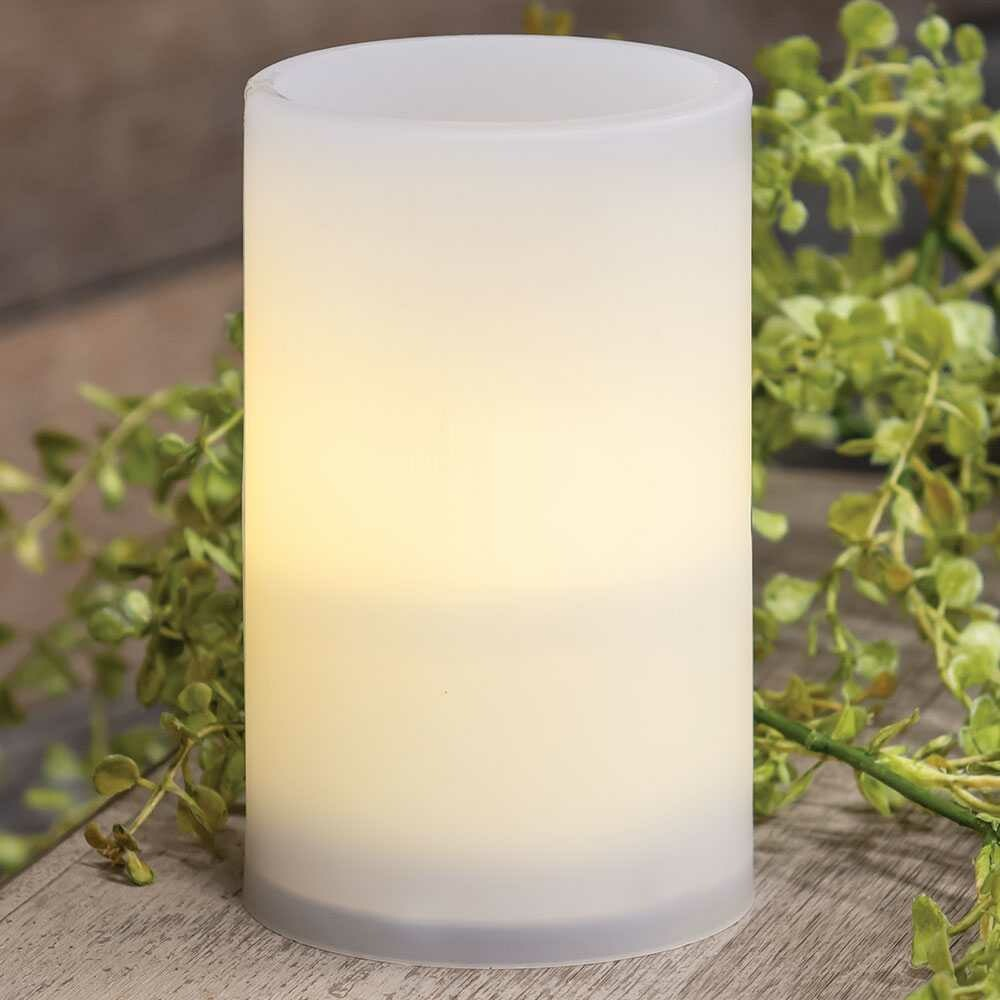 Warm Light White Pillar Candle, 5 inches