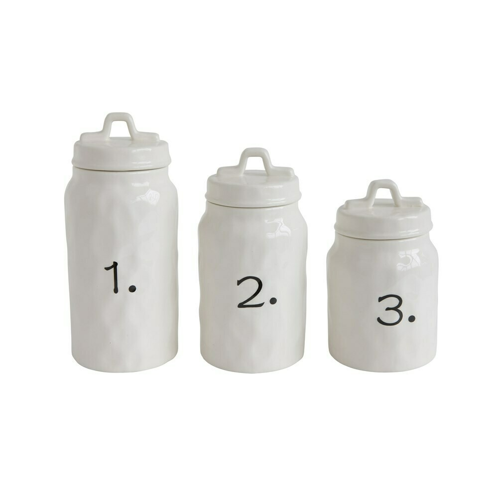 Number Canisters, Set of 3