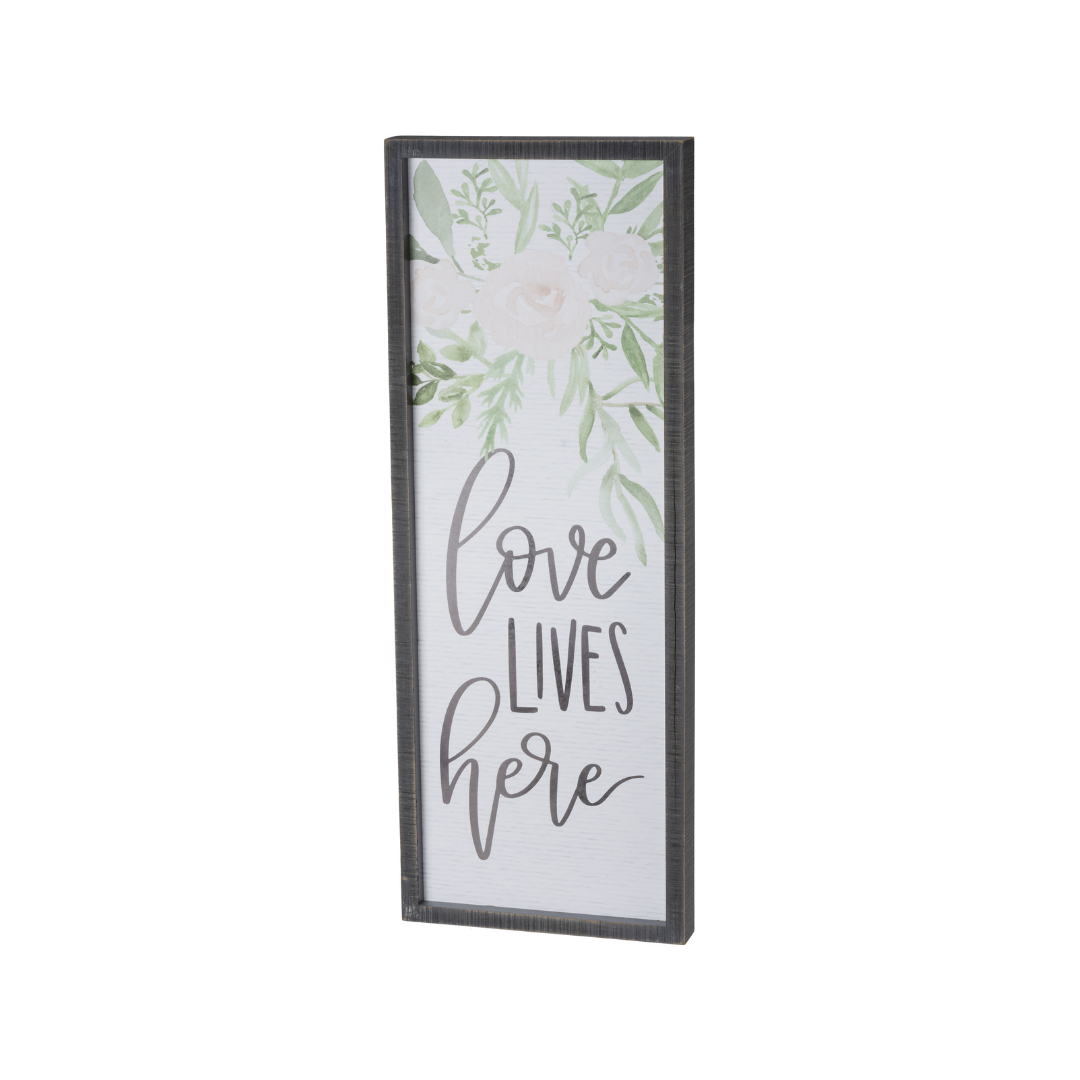 Inset Box Sign - Love Lives