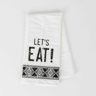 Let's Eat! Tea Towel