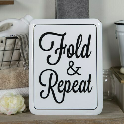 Fold & Repeat Metal Sign