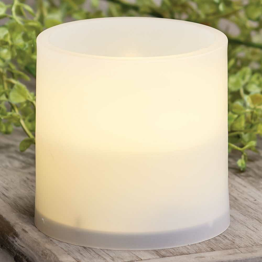 Warm Light White Pillar Candle, 3 inches