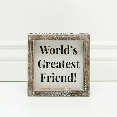 World's Greatest Friend Box Sign