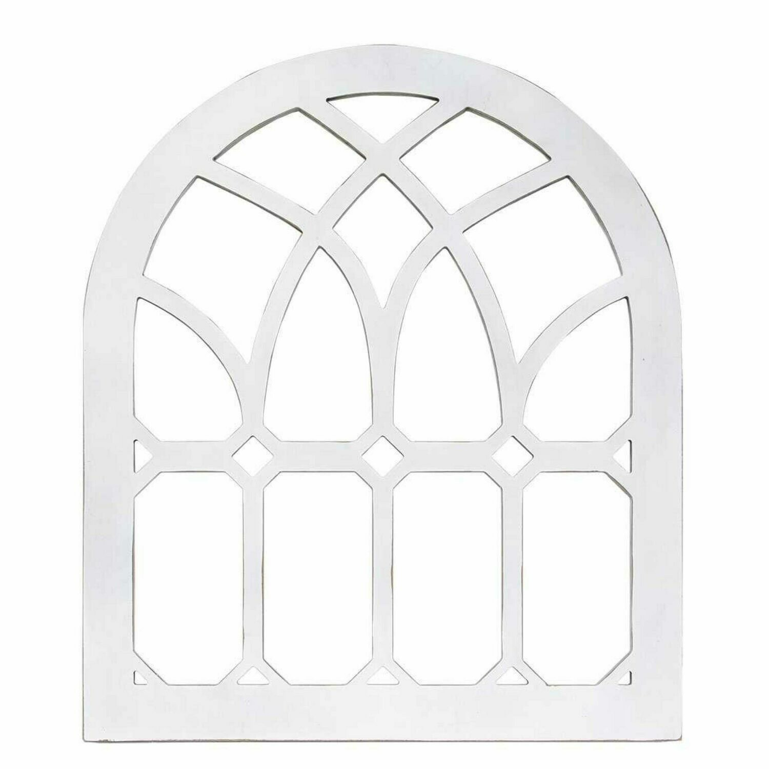 Distressed White Cathedral Arch