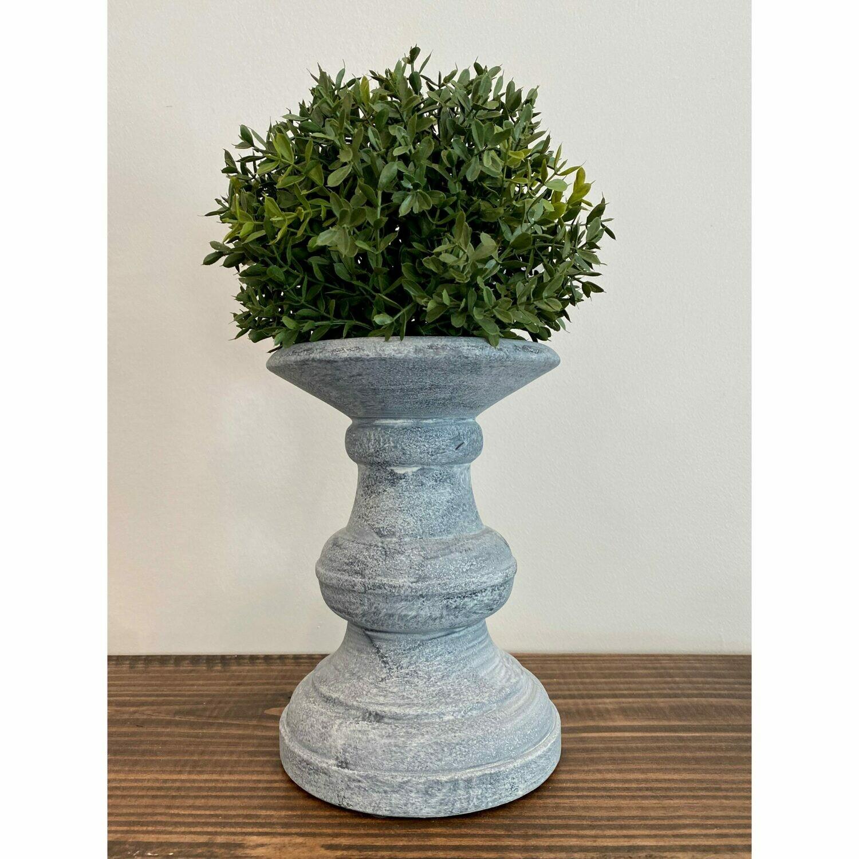 "8"" Gray Ceramic Stand"