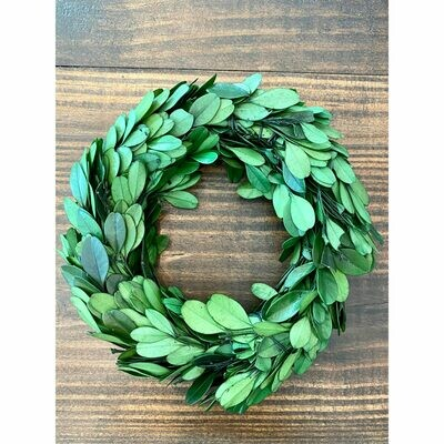 Preserved Boxwood Wreath - Small