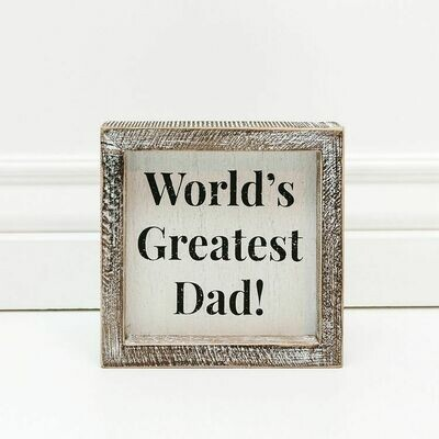 World's Greatest Dad Box Sign