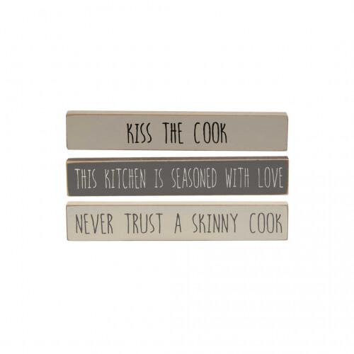 Kiss The Cook Mini Sticks - Set of 3