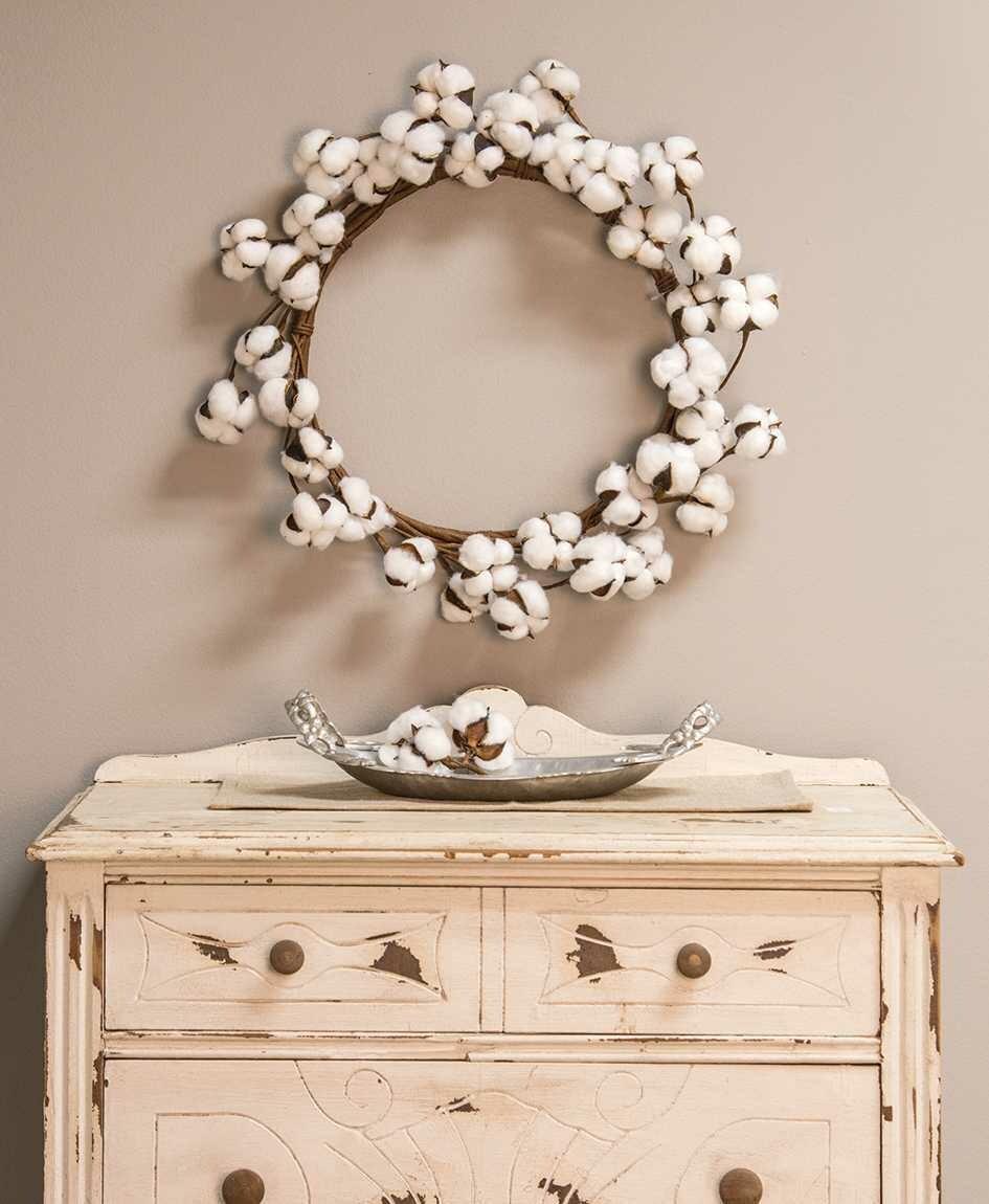 "17"" Cotton Wreath"