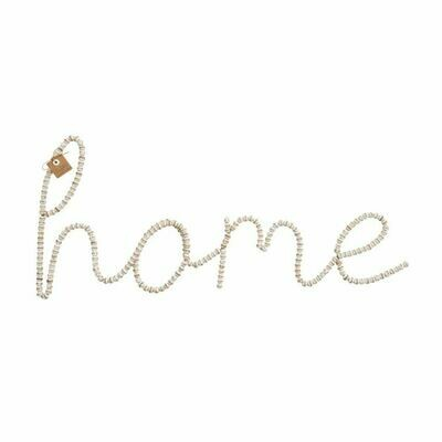 Beaded Home Sign