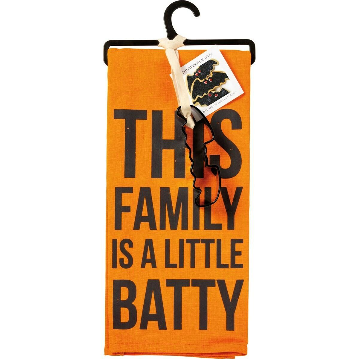 Batty Towel & Cookie Cutter Set
