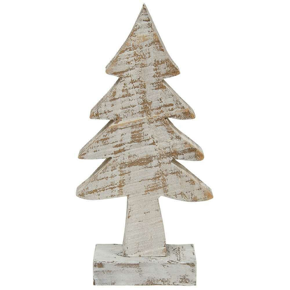 "8"" Distressed Wooden Tree"