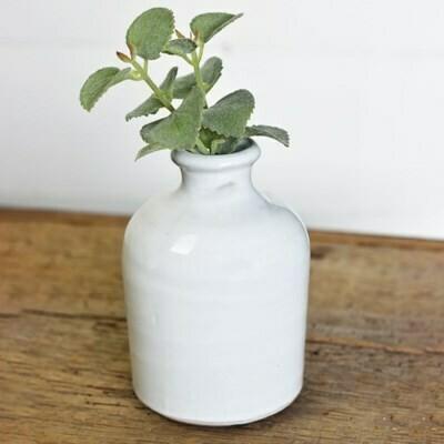 """5"""" Fat White Vase"""