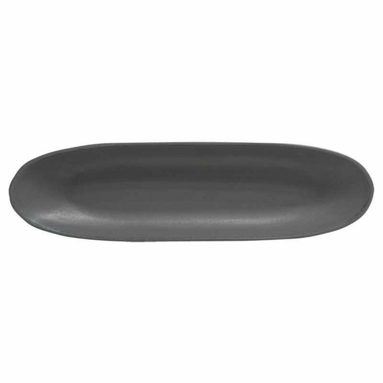 Black Wooden Oval Tray