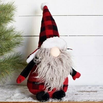Buffalo Plaid Gnome
