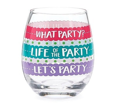 Colorful Fill Line Stemless Wine Glass