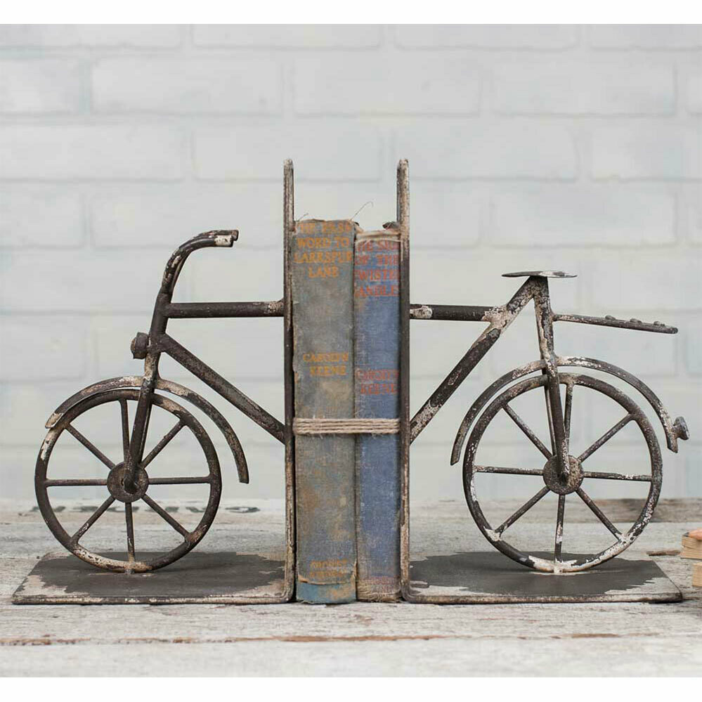 Distressed Bicycle Bookends