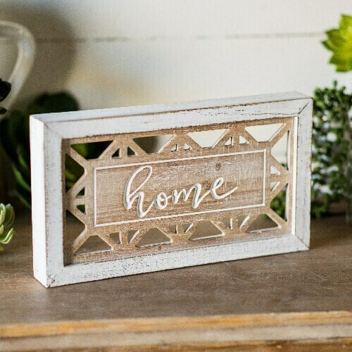 Distressed Wooden Home Sign
