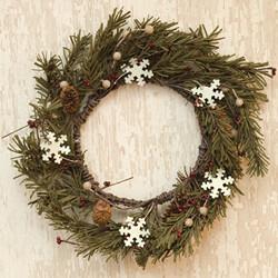 """12"""" Pinecone & Snowflake Wreath"""
