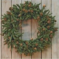 """24"""" Pinecone Wreath"""
