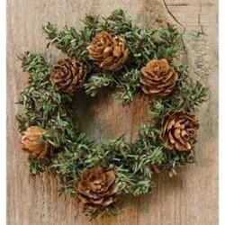 """4"""" Pinecone Wreath"""