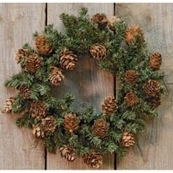 """9"""" Pinecone Wreath"""