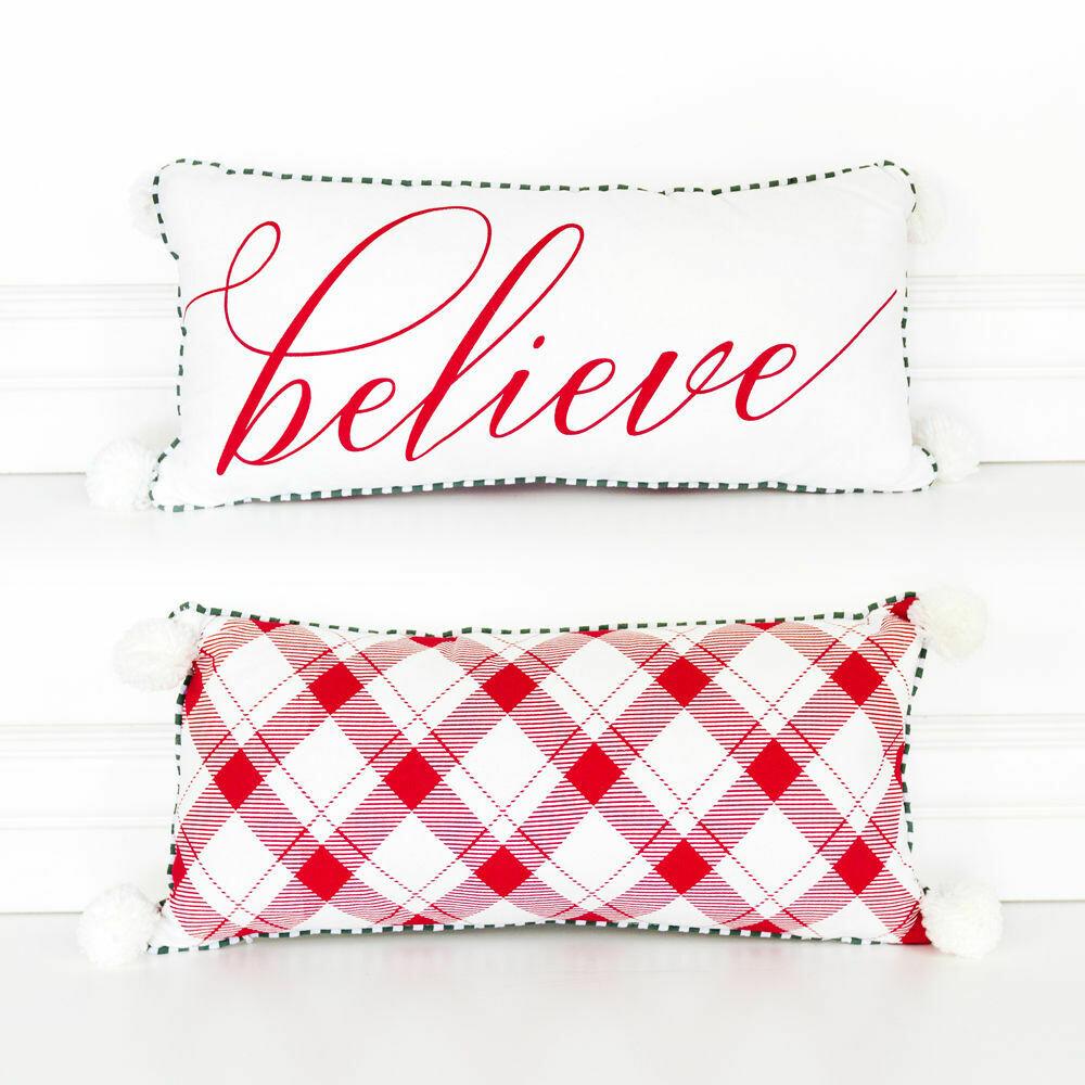Believe Pom Pillow