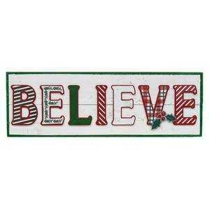 Believe Wooden Christmas Sign