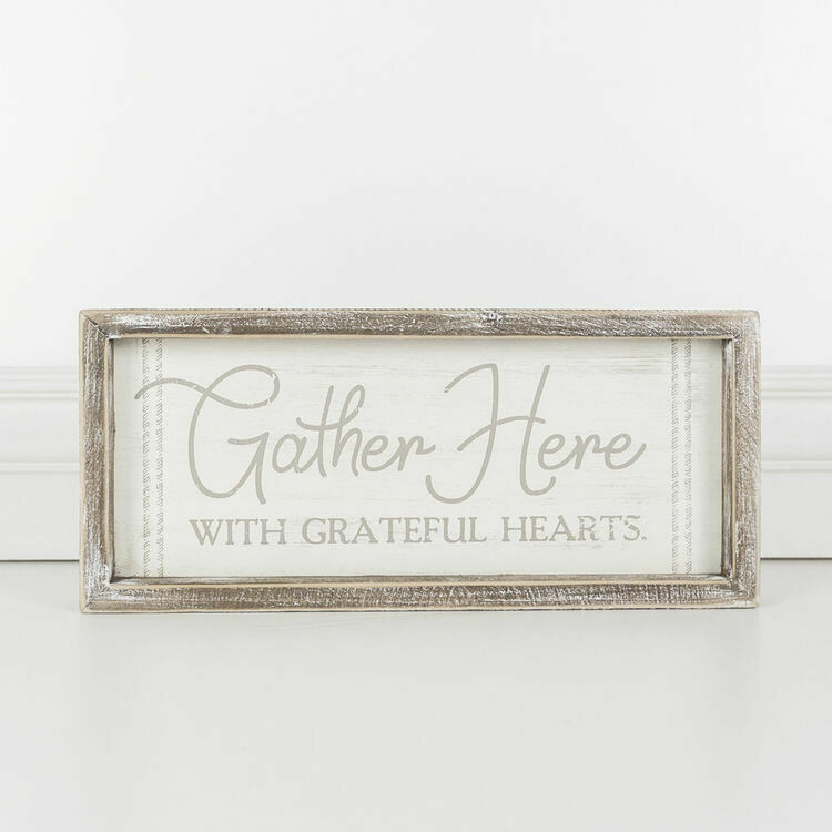Gather Here Box Sign