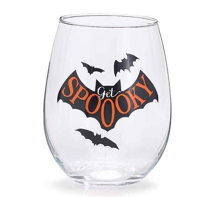 Get Spooky Wine Glass