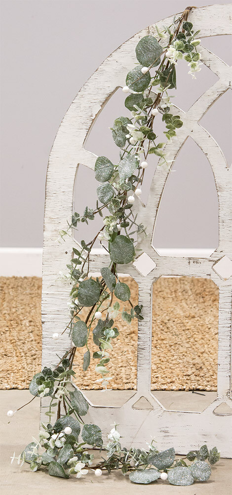 Glitter Frosted Eucalyptus Garland