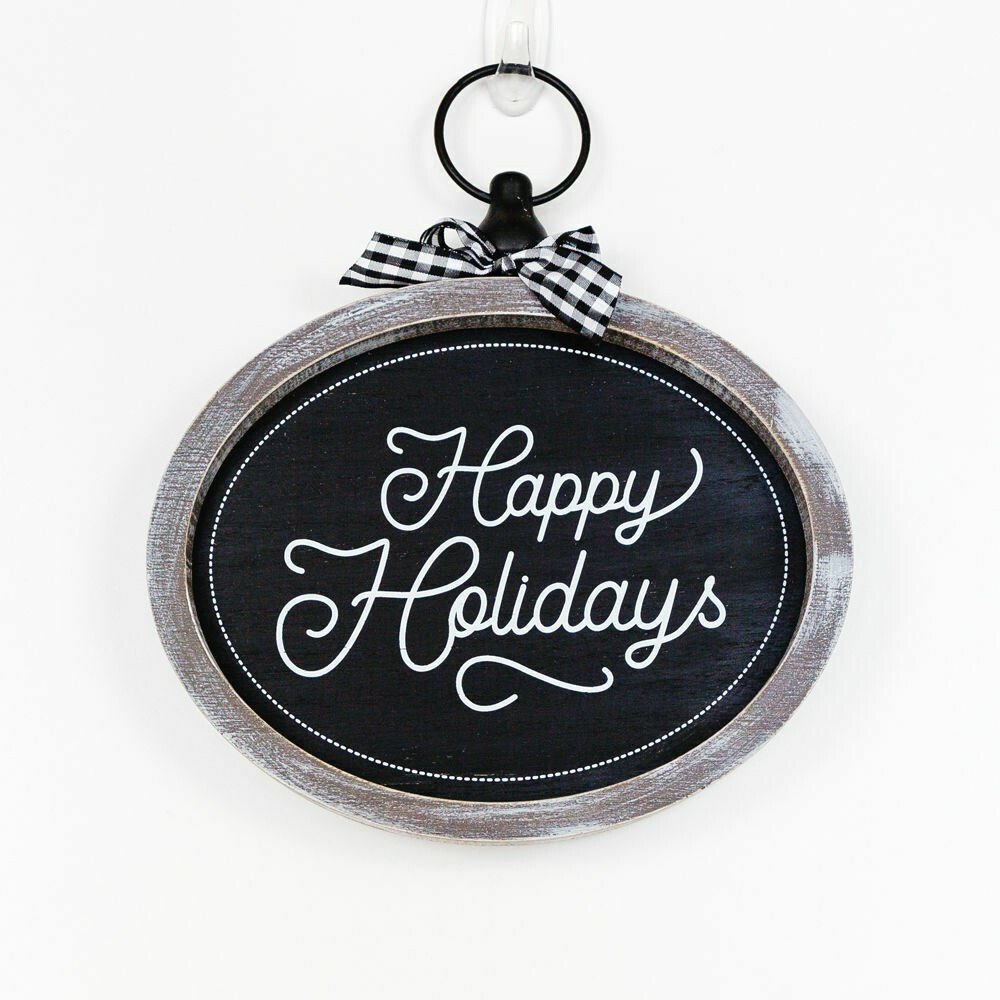 Happy Holidays B&W Sign