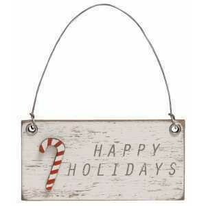 Happy Holidays Charm Ornament