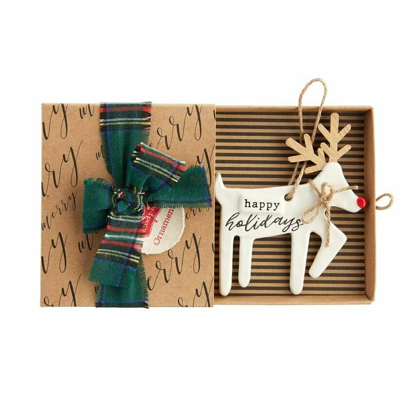 Happy Holidays Reindeer Ornament