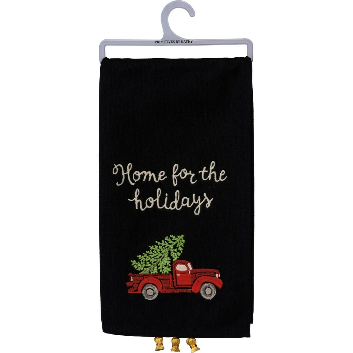 Home for the Holidays Tassel Towel