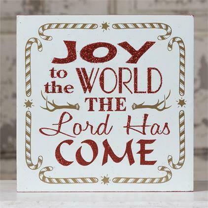 Joy to the World Box Sign