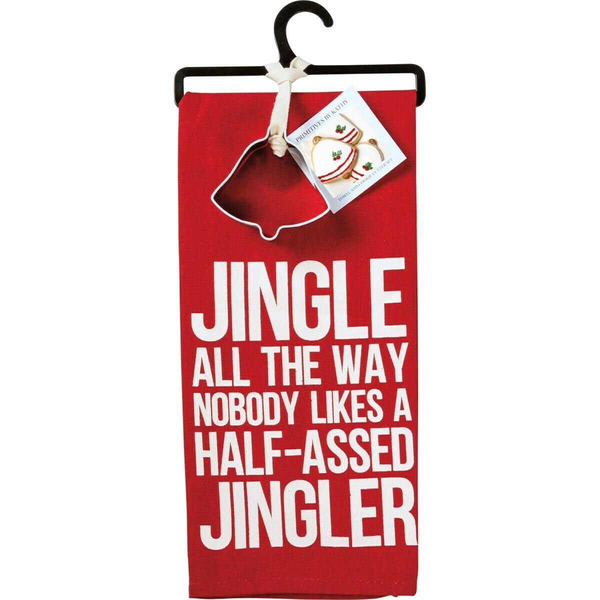 Jingler Towel & Cookie Cutter Set
