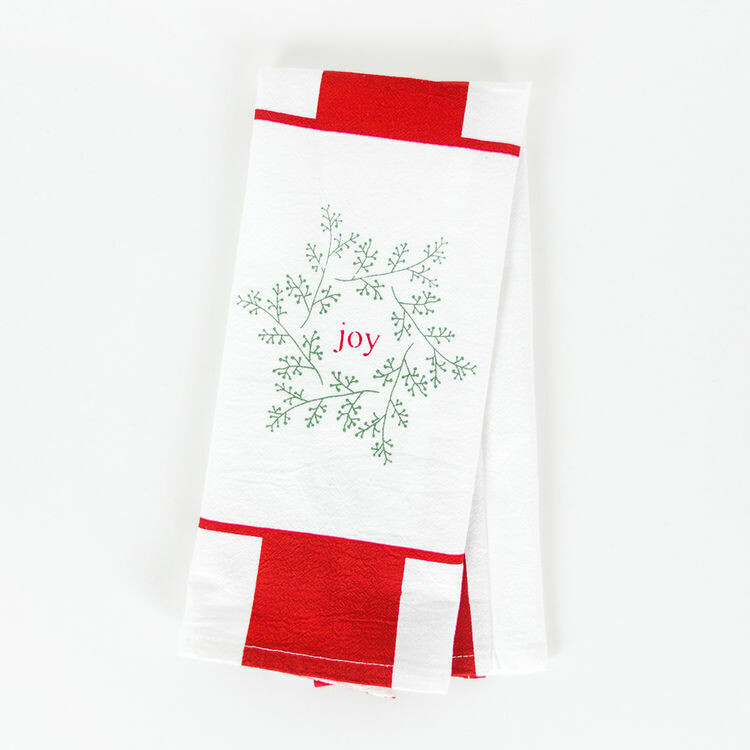 Joy Snowflake Towel