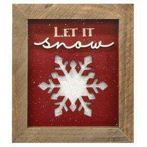 Let it Snow Framed Sign
