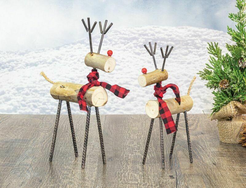 Lg Timber Xmas Deer