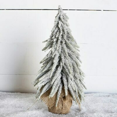 Med Frosted Burlap Tree