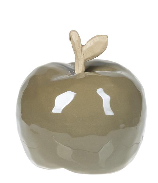 Med Green Ceramic Apple