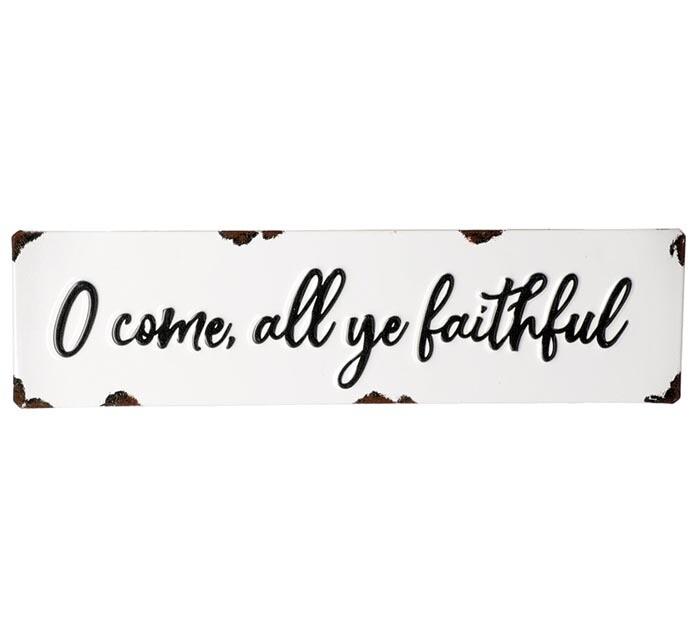 O Come All Ye Faithful Tin Sign