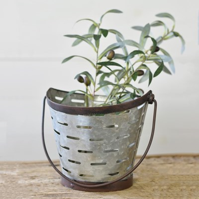 Olive Bucket with Handle