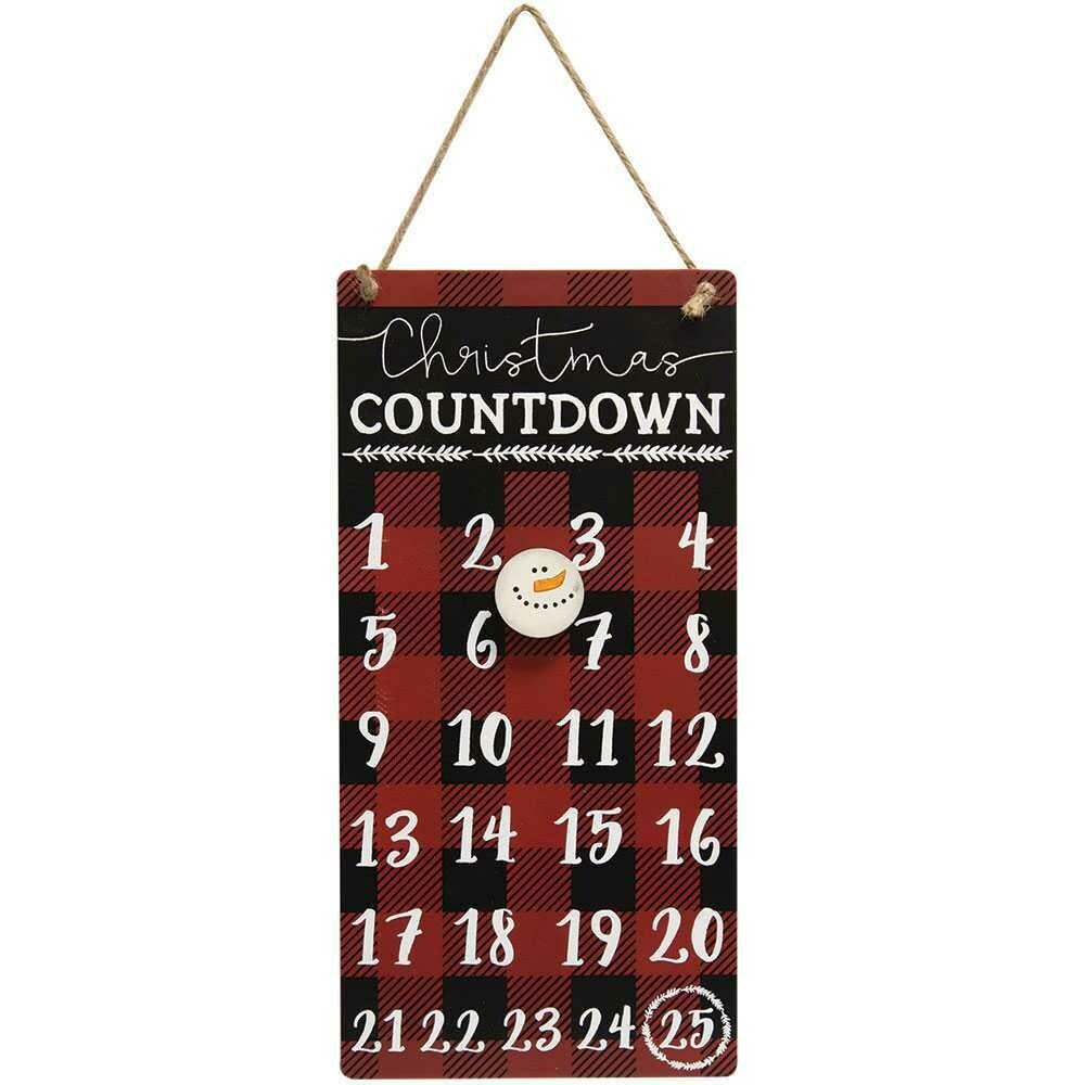 Plaid Christmas Countdown