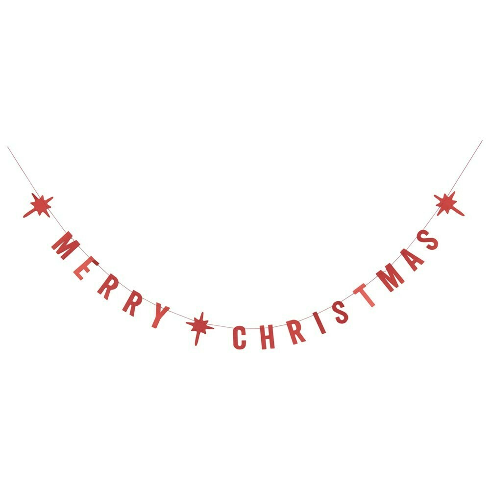Merry Christmas Paper Garland