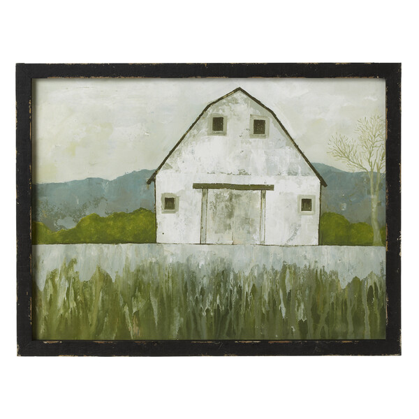 White Barn Wall Hanging