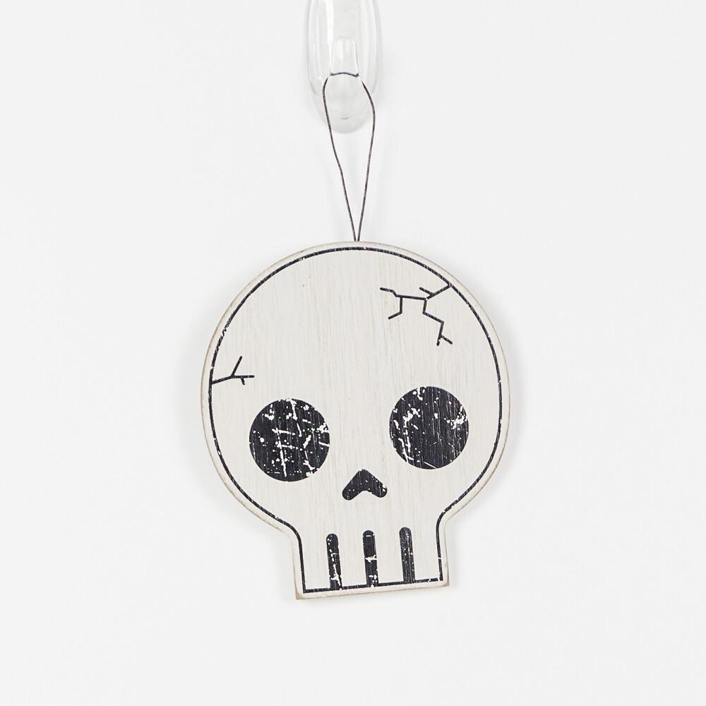 Wooden Skull Ornament