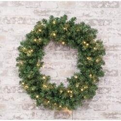 "24"" Pre-lit Noble Fir Wreath"